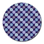 Snowflakes Pattern Round Mousepads Front
