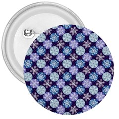 Snowflakes Pattern 3  Buttons