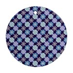 Snowflakes Pattern Ornament (Round)  Front