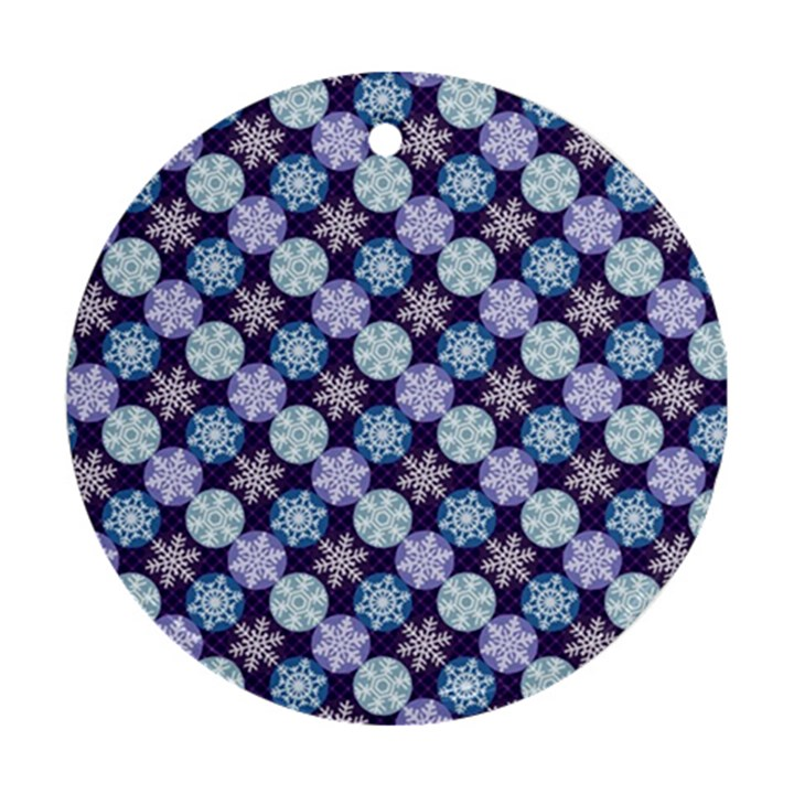 Snowflakes Pattern Ornament (Round)