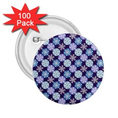Snowflakes Pattern 2 25  Buttons (100 Pack)