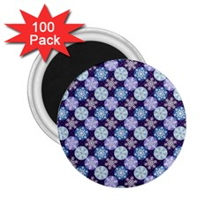 Snowflakes Pattern 2 25  Magnets (100 Pack)