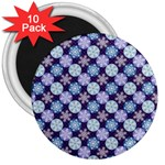 Snowflakes Pattern 3  Magnets (10 pack)  Front
