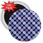 Snowflakes Pattern 3  Magnets (100 pack) Front