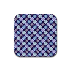Snowflakes Pattern Rubber Coaster (Square)