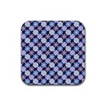 Snowflakes Pattern Rubber Coaster (Square)  Front