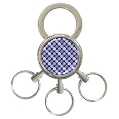 Snowflakes Pattern 3 Ring Key Chains