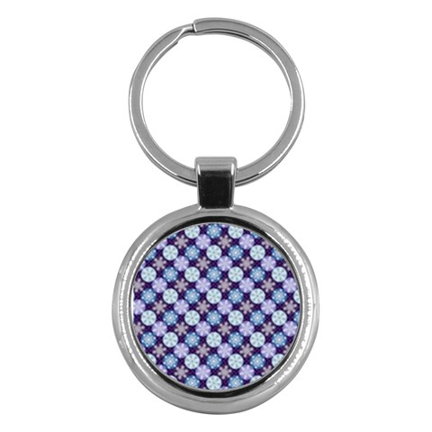 Snowflakes Pattern Key Chains (Round)