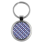 Snowflakes Pattern Key Chains (Round)  Front