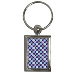 Snowflakes Pattern Key Chains (Rectangle)  Front