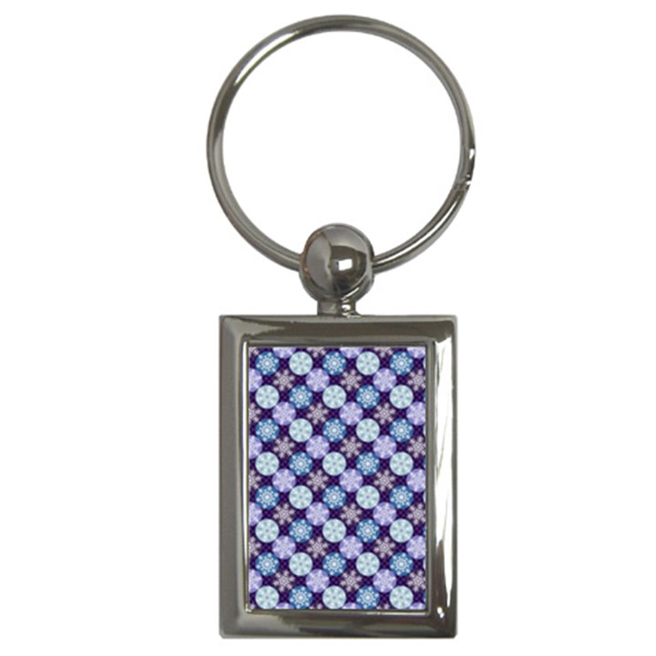 Snowflakes Pattern Key Chains (Rectangle)