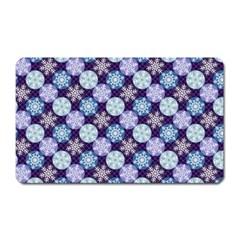 Snowflakes Pattern Magnet (Rectangular)