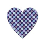 Snowflakes Pattern Heart Magnet Front