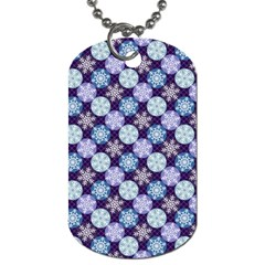 Snowflakes Pattern Dog Tag (One Side)