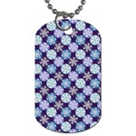 Snowflakes Pattern Dog Tag (One Side) Front