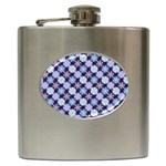 Snowflakes Pattern Hip Flask (6 oz) Front