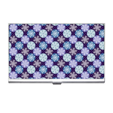 Snowflakes Pattern Business Card Holders