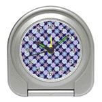 Snowflakes Pattern Travel Alarm Clocks Front