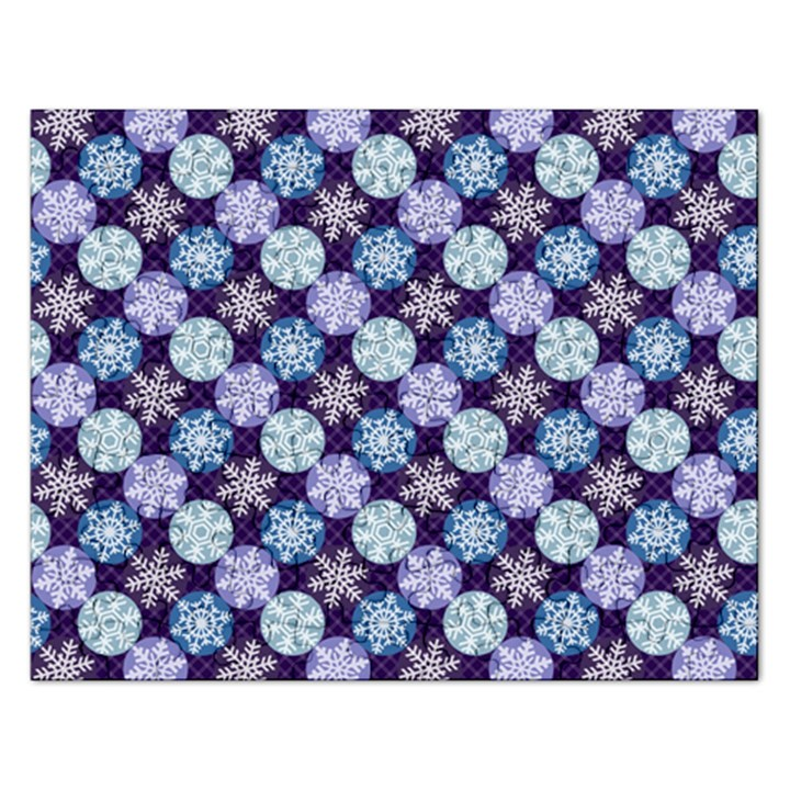 Snowflakes Pattern Rectangular Jigsaw Puzzl