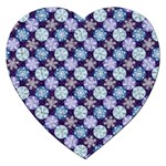 Snowflakes Pattern Jigsaw Puzzle (Heart) Front