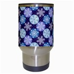 Snowflakes Pattern Travel Mugs (White) Center