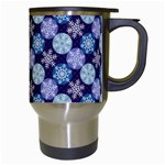 Snowflakes Pattern Travel Mugs (White) Right