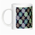 Snowflakes Pattern Night Luminous Mugs Left