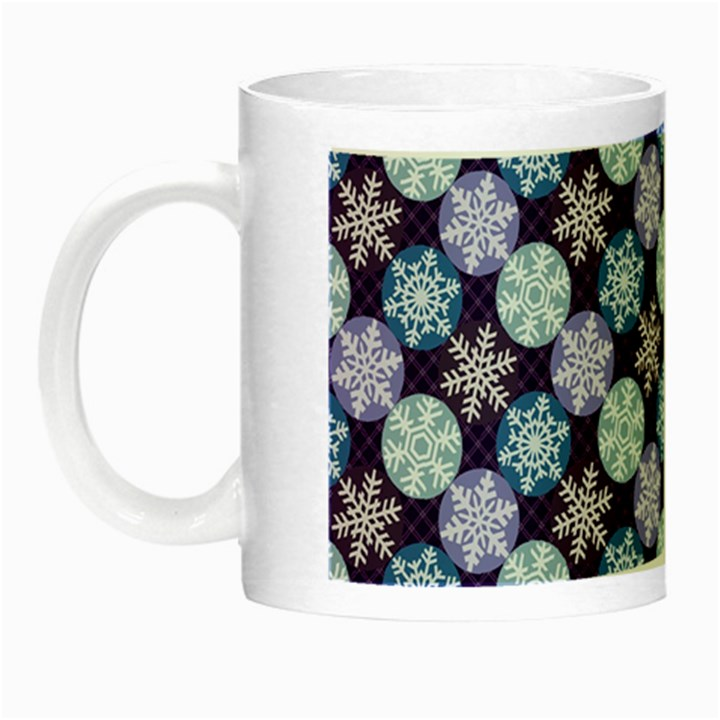 Snowflakes Pattern Night Luminous Mugs
