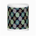 Snowflakes Pattern Night Luminous Mugs Center