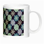 Snowflakes Pattern Night Luminous Mugs Right