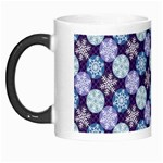 Snowflakes Pattern Morph Mugs Left