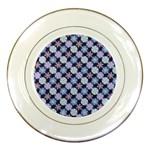 Snowflakes Pattern Porcelain Plates Front