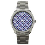 Snowflakes Pattern Sport Metal Watch Front