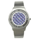 Snowflakes Pattern Stainless Steel Watch Front