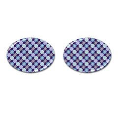 Snowflakes Pattern Cufflinks (Oval)
