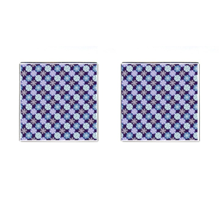 Snowflakes Pattern Cufflinks (Square)