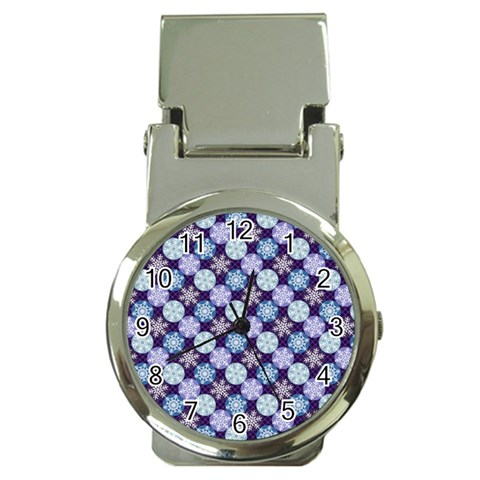 Snowflakes Pattern Money Clip Watches