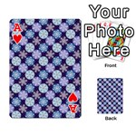 Snowflakes Pattern Playing Cards 54 Designs  Front - HeartA