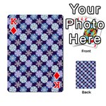 Snowflakes Pattern Playing Cards 54 Designs  Front - DiamondK