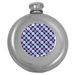 Snowflakes Pattern Round Hip Flask (5 oz) Front