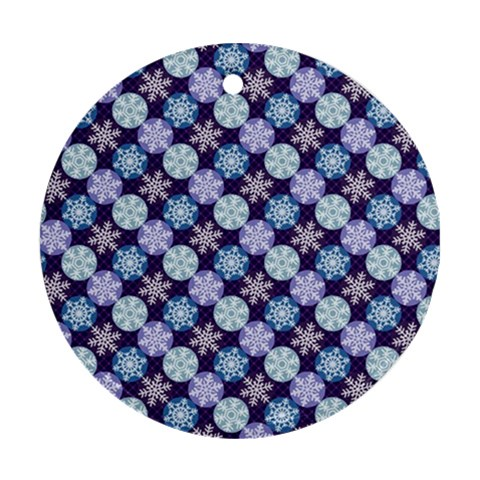 Snowflakes Pattern Round Ornament (Two Sides)