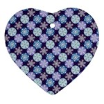 Snowflakes Pattern Heart Ornament (2 Sides) Front