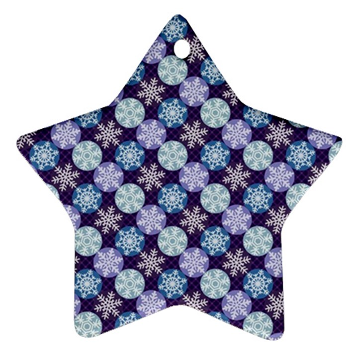 Snowflakes Pattern Star Ornament (Two Sides)