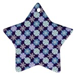 Snowflakes Pattern Star Ornament (Two Sides)  Back