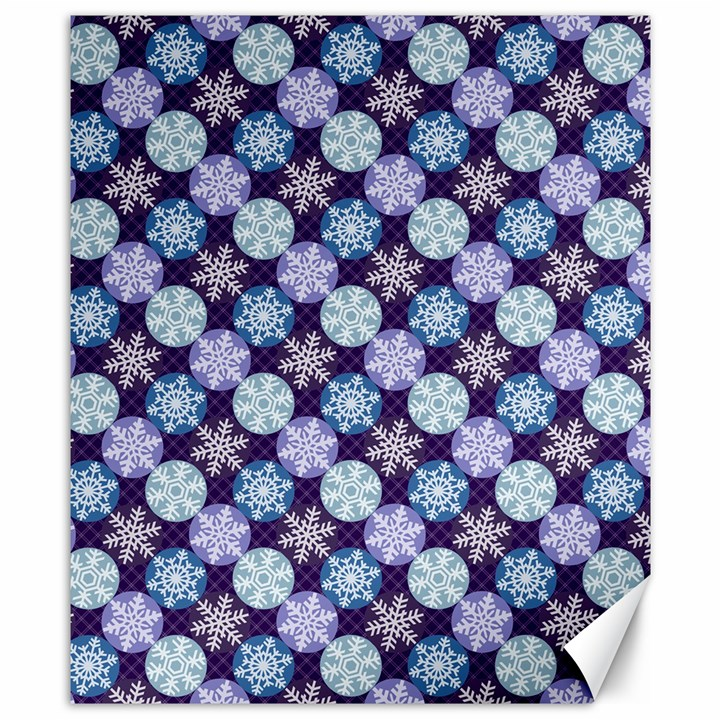 Snowflakes Pattern Canvas 8  x 10