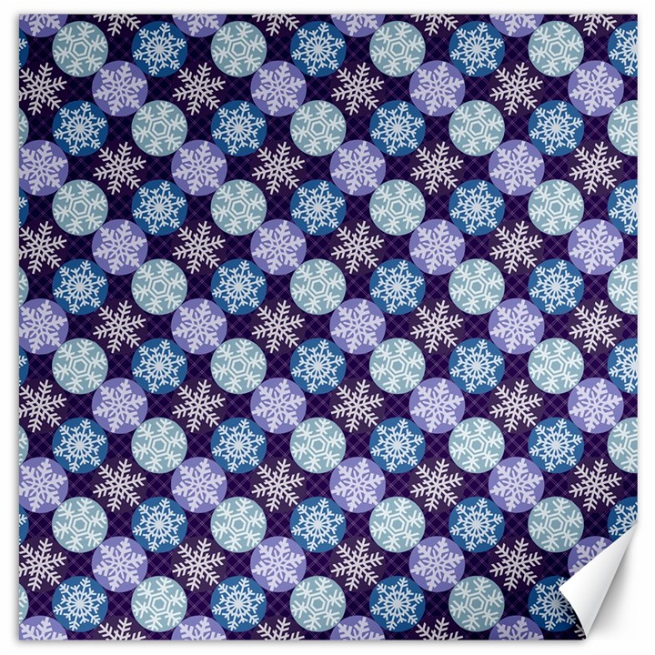 Snowflakes Pattern Canvas 12  x 12