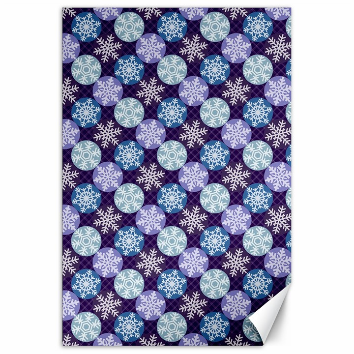 Snowflakes Pattern Canvas 20  x 30