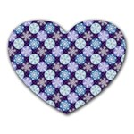 Snowflakes Pattern Heart Mousepads Front