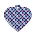 Snowflakes Pattern Dog Tag Heart (One Side) Front