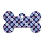 Snowflakes Pattern Dog Tag Bone (Two Sides) Back